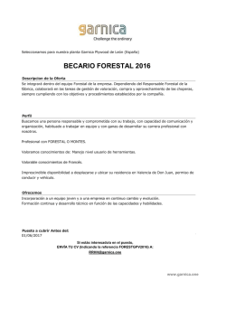 BECARIO FORESTAL 2016