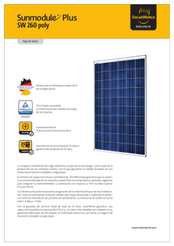 SW 260 poly - SolarWorld