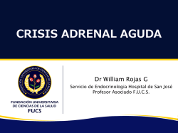 CRISIS ADRENAL AGUDA – Dr. William Rojas García