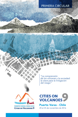 primera circular - Cities on Volcanoes 9