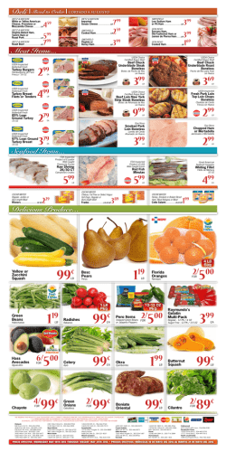 Orlando flyer sedanos for Broward meat and fish company