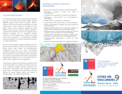 Triptico del evento - Cities on Volcanoes 9