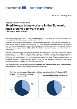 10 million part-time workers in the EU would have