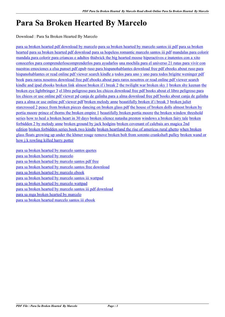para sa broken hearted marcelo santos pdf free download