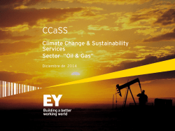"Climate Change & Sustainability Services Sector ""Oil & Gas"""