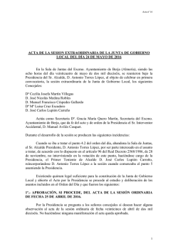 junta de gobierno local 24-05-2016