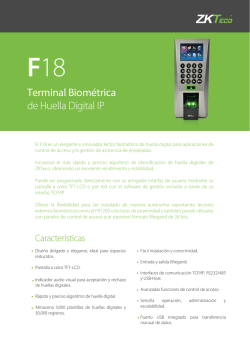 Terminal Biométrica de Huella Digital IP