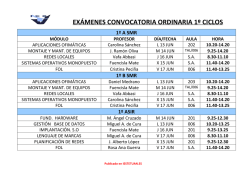 Convocatoria ordinaria (1º curso)