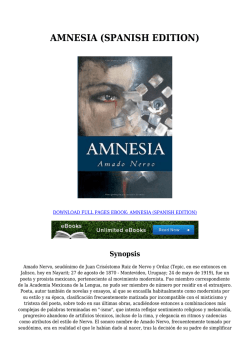 AMNESIA (SPANISH EDITION)