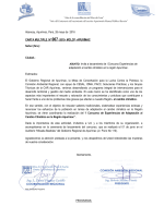Carta Multiple N°007- invitacion a lanzamiento deI