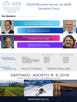 Reunion Anual IADR 2016 flyer 3