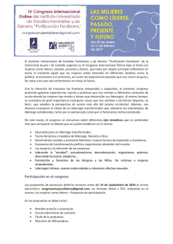 Call for Papers del próximo congreso online del Instituto