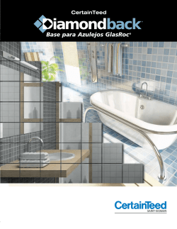 Base para Azulejos GlasRoc® Diamondback
