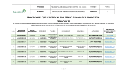 providencias que se notifican por estado el dia 08 de junio de 2016