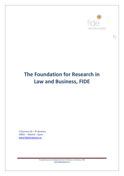The Foundation for Research in Law and Business, FIDE