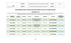 providencias que se notifican por estado el dia 13 de junio de 2016