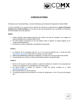 convocatoria - DIF-DF