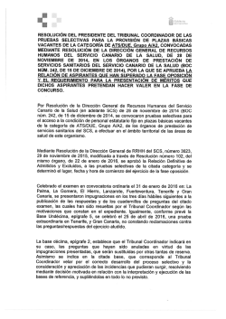 Resolución del Presidente del Tribunal