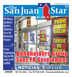NOTICIAS ESPANOL - The San Juan Daily Star
