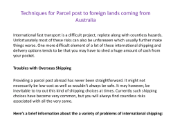 Techniques for Parcel post to foreign lands coming from Australia