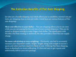 The Extensive Benefits of Flat Rate Shipping