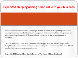 Expedited shipping adding brand value to your business