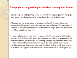 Cheap, yet strong packing boxes when moving your home