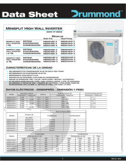 Data Sheet Drummond - Minisplit Inverter 1, 1.5 y 2 TR