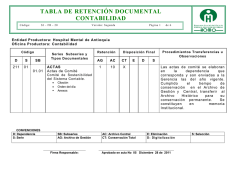 tabla de retención documental contabilidad