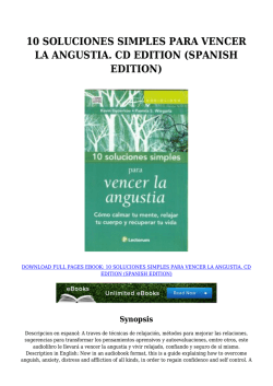 {}Download PDF 10 SOLUCIONES SIMPLES PARA VENCER LA