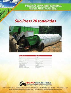 Silo Press 70 toneladas