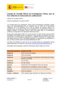 Listado de Comités Éticos de Investigación Clínica que se han