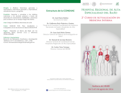2do. Curso Medicina Interna - Hospital Regional de Alta