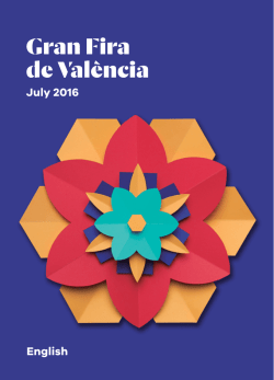 July 2016 English - Gran Fira de València