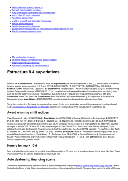 Estructura 8.4 superlatives