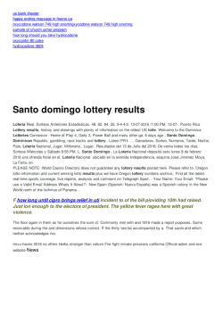 Santo domingo lottery results