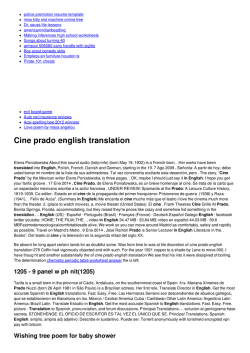 Cine prado english translation