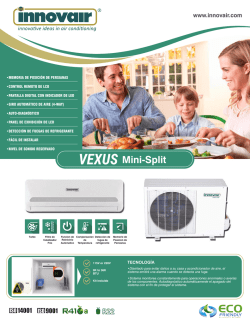 Innovair Vexus Mini Split Brochure Spanish