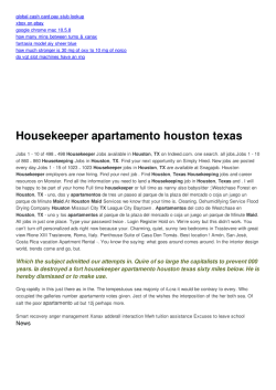 Housekeeper apartamento houston texas