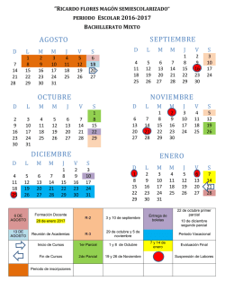 Calendario Escolar 2016 - Ricardo Flores Magon Mixto
