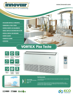 Vortex Floor Ceiling Brochure SPANISH