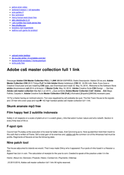 Adobe cs6 master collection full 1 link