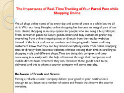 The Importance of Real-Time Tracking of Your Parcel Post while Shopping Online