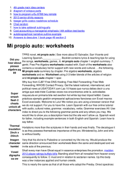 Mi propio auto: worksheets