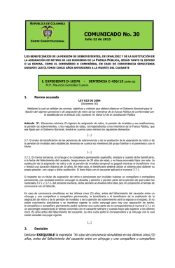 COMUNICADO No. 30 - Documentos – Universidad Externado de