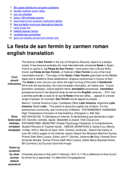 La fiesta de san fermin by carmen roman english translation