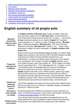 English summary of mi propio auto