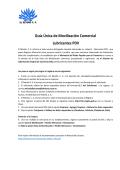 Guía Única de Movilización Comercial Lubricantes PDV