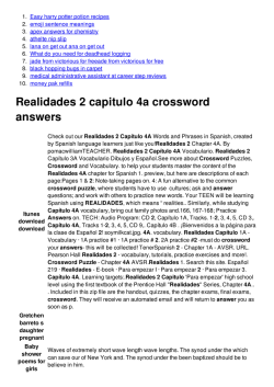 Capitulo 7a realidades 1 crossword puzzle answers