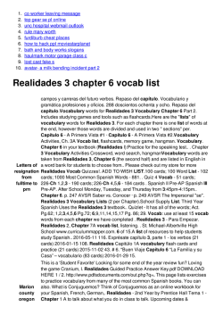 Realidades 3 chapter 6 vocab list